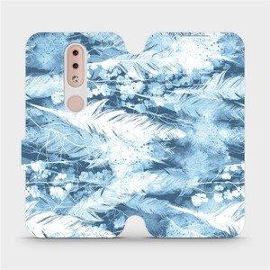 Flipové pouzdro Mobiwear na mobil Nokia 4.2 - M058S Světle modrá horizontální pírka