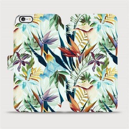Flipové pouzdro Mobiwear na mobil Apple iPhone 6 / iPhone 6s - M071P Flóra