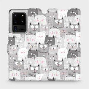 Flipové pouzdro Mobiwear na mobil Samsung Galaxy S20 Ultra - M099P Kočičky