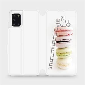 Flipové pouzdro Mobiwear na mobil Samsung Galaxy A31 - M090P Makronky - have a nice day