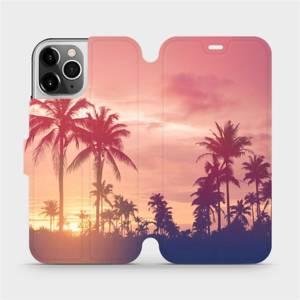 Flipové pouzdro Mobiwear na mobil Apple iPhone 12 Pro - M134P Palmy a růžová obloha