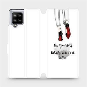 Flipové pouzdro Mobiwear na mobil Samsung Galaxy A42 5G - M046P Be yourself