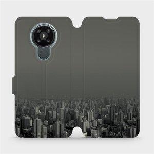 Flipové pouzdro Mobiwear na mobil Nokia 3.4 - V063P Město v šedém hávu