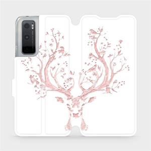 Flipové pouzdro Mobiwear na mobil Vivo Y70 - M007S Růžový jelínek