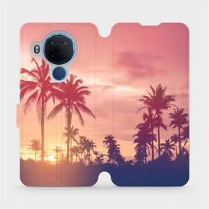 Flipové pouzdro Mobiwear na mobil Nokia 5.4 - M134P Palmy a růžová obloha