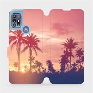 Flipové pouzdro Mobiwear na mobil Motorola Moto G20 - M134P Palmy a růžová obloha