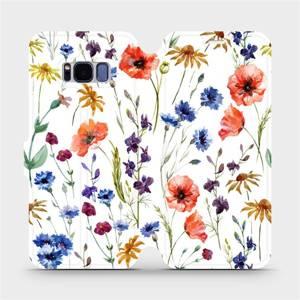 Flip pouzdro Mobiwear na mobil Samsung Galaxy S8 - MP04S Luční kvítí