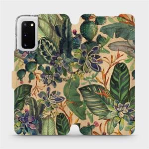 Flip pouzdro Mobiwear na mobil Samsung Galaxy S20 - VP05S Sukulenty