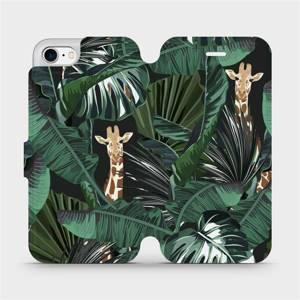 Flip pouzdro Mobiwear na mobil Apple iPhone 7 - VP06P Žirafky