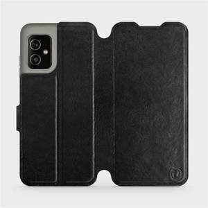Flip pouzdro Mobiwear na mobil Asus Zenfone 8 v provedení C_BLS Black&Gray s šedým vnitřkem