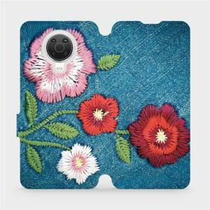 Flip pouzdro Mobiwear na mobil Nokia G20 - MD05P Džínové květy