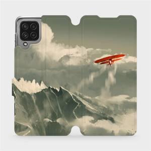 Flip pouzdro Mobiwear na mobil Samsung Galaxy M22 - MA03P Oranžové letadlo v horách