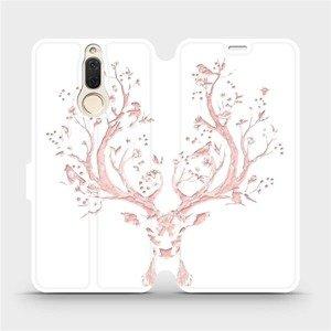 Flipové pouzdro Mobiwear na mobil Huawei Mate 10 Lite - M007S Růžový jelínek