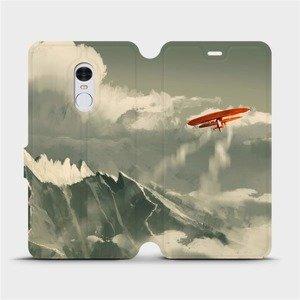 Flipové pouzdro Mobiwear na mobil Xiaomi Redmi Note 4 Global - MA03P Oranžové letadlo v horách