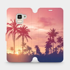 Flipové pouzdro Mobiwear na mobil Samsung Galaxy J6 2018 - M134P Palmy a růžová obloha
