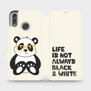Flipové pouzdro Mobiwear na mobil Honor 8X - M041S Panda - life is not always black and white