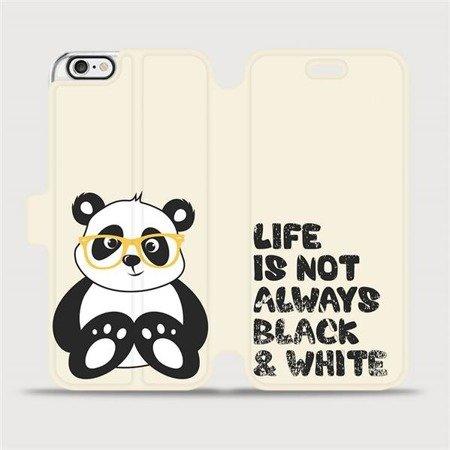 Flipové pouzdro Mobiwear na mobil Apple iPhone 6 / iPhone 6s - M041S Panda - life is not always black and white