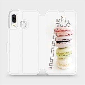 Flipové pouzdro Mobiwear na mobil Samsung Galaxy A40 - M090P Makronky - have a nice day
