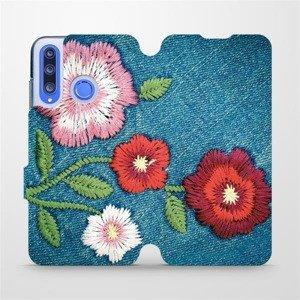 Flipové pouzdro Mobiwear na mobil Honor 20 Lite - MD05P Džínové květy