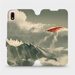 Flipové pouzdro Mobiwear na mobil Huawei Y5 2019 - MA03P Oranžové letadlo v horách