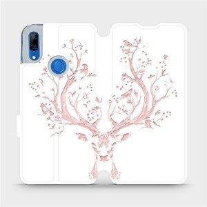 Flipové pouzdro Mobiwear na mobil Huawei P Smart Z - M007S Růžový jelínek