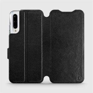 Flipové pouzdro Mobiwear na mobil Xiaomi Mi A3 v provedení C_BLS Black&Gray s šedým vnitřkem