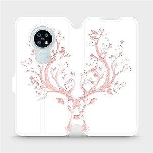 Flipové pouzdro Mobiwear na mobil Nokia 6.2 - M007S Růžový jelínek