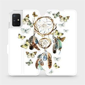 Flipové pouzdro Mobiwear na mobil Samsung Galaxy A51 - M001P Lapač a motýlci