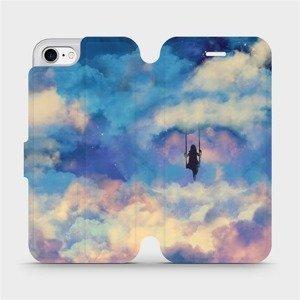 Flipové pouzdro Mobiwear na mobil Apple iPhone SE 2020 - MR09S Dívka na houpačce v oblacích - výprodej