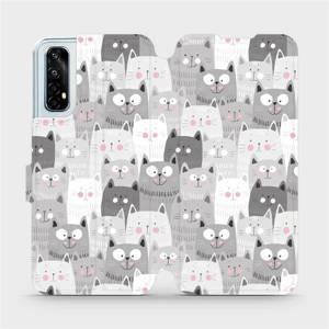 Flipové pouzdro Mobiwear na mobil Realme 7 - M099P Kočičky