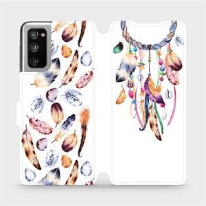 Flipové pouzdro Mobiwear na mobil Samsung Galaxy S20 FE - M003S Lapač a barevná pírka