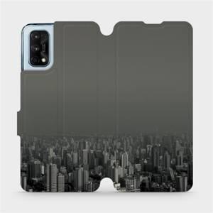 Flipové pouzdro Mobiwear na mobil Realme 7 Pro - V063P Město v šedém hávu