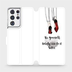 Flipové pouzdro Mobiwear na mobil Samsung Galaxy S21 Ultra 5G - M046P Be yourself