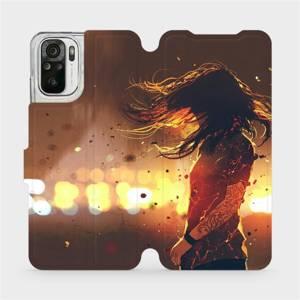 Flipové pouzdro Mobiwear na mobil Xiaomi Redmi Note 10S - MA02S Tetovaná dívka