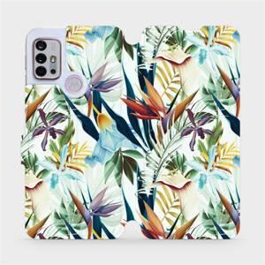 Flipové pouzdro Mobiwear na mobil Motorola Moto G10 - M071P Flóra