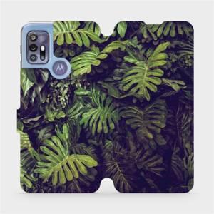 Flipové pouzdro Mobiwear na mobil Motorola Moto G30 - V136P Zelená stěna z listů