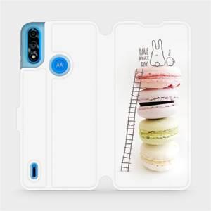 Flipové pouzdro Mobiwear na mobil Motorola Moto E7i Power - M090P Makronky - have a nice day