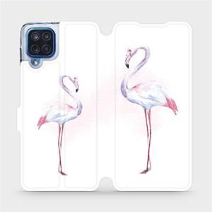 Flipové pouzdro Mobiwear na mobil Samsung Galaxy M12 - M005S Plameňáci