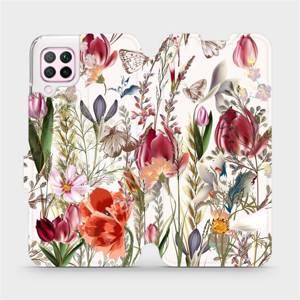 Flip pouzdro Mobiwear na mobil Huawei P40 Lite - MP01S Rozkvetlá louka