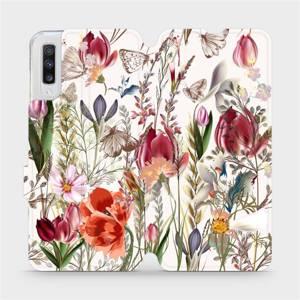 Flip pouzdro Mobiwear na mobil Samsung Galaxy A70 - MP01S Rozkvetlá louka