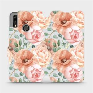 Flip pouzdro Mobiwear na mobil Huawei P Smart 2019 - MP02S Pastelové květy