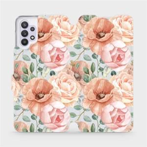Flip pouzdro Mobiwear na mobil Samsung Galaxy A32 5G - MP02S Pastelové květy
