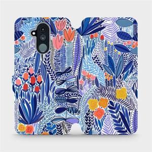 Flip pouzdro Mobiwear na mobil Huawei Mate 20 Lite - MP03P Modrá květena