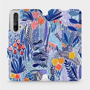 Flip pouzdro Mobiwear na mobil Realme X3 SuperZoom - MP03P Modrá květena
