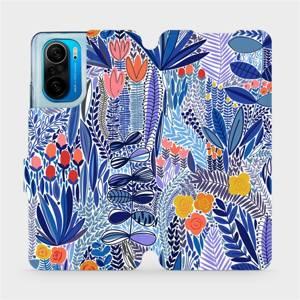 Flip pouzdro Mobiwear na mobil Xiaomi POCO F3 - MP03P Modrá květena
