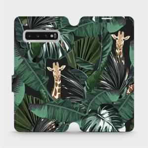 Flip pouzdro Mobiwear na mobil Samsung Galaxy S10 - VP06P Žirafky