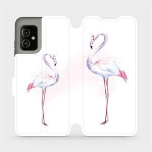 Flip pouzdro Mobiwear na mobil Asus Zenfone 8 - M005S Plameňáci