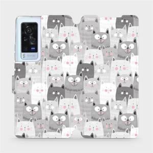 Flip pouzdro Mobiwear na mobil Vivo X60 Pro 5G - M099P Kočičky