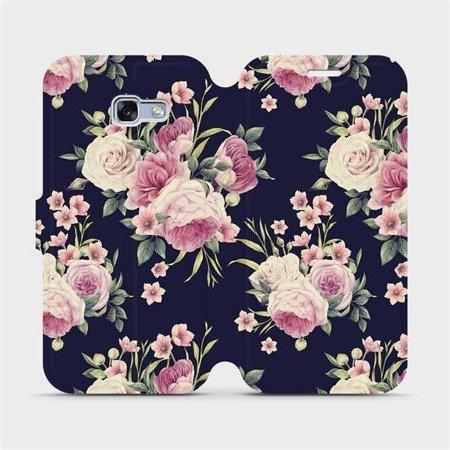 Flipové pouzdro Mobiwear na mobil Samsung Galaxy A3 2017 - V068P Růžičky