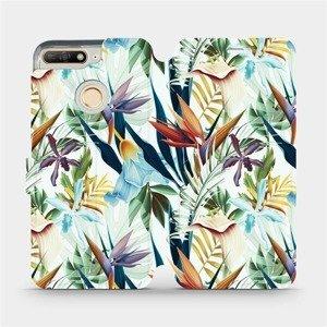 Flipové pouzdro Mobiwear na mobil Huawei Y6 Prime 2018 - M071P Flóra